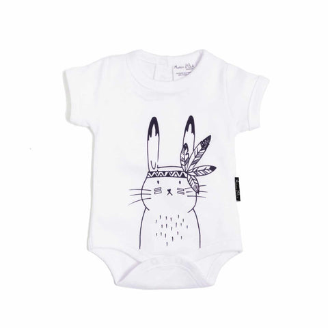 Bunny Chief Onesie in White - Little Cherished Co.
