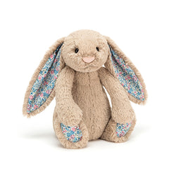 Medium Bashful Blossom Bunny in Beige