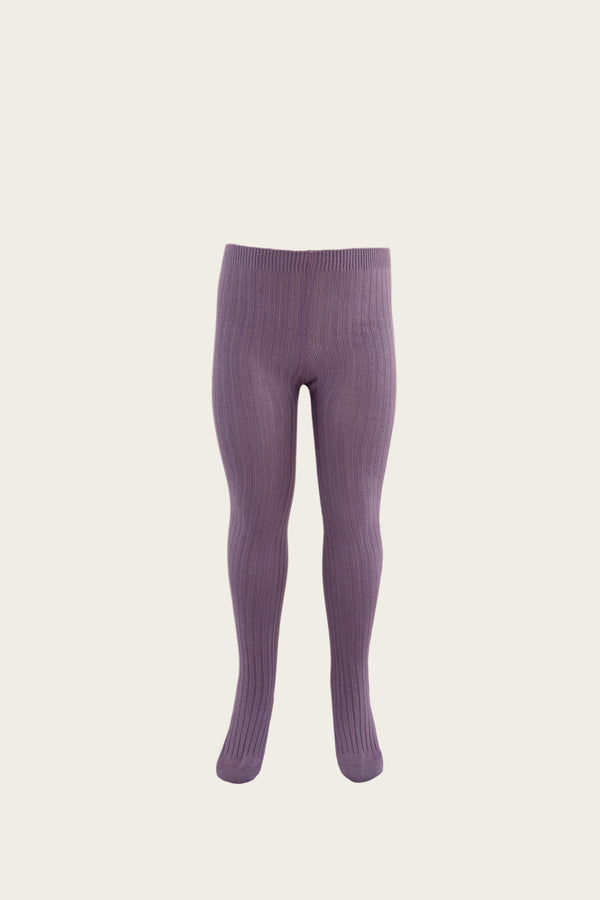 Blueberry Ribbed Tights by Jamie Kay