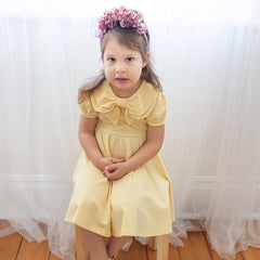 Daffodil Bow Dress by KCoulst Designs