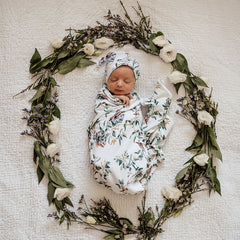 Eucalypt Snuggle Wrap and Beanie (gift boxed)
