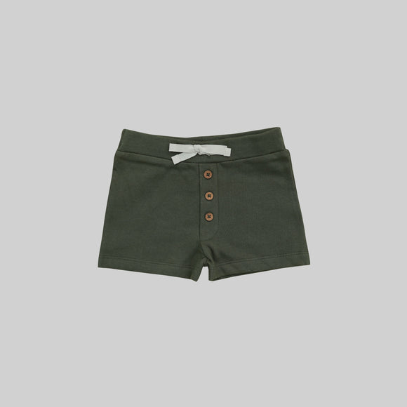 Fir Button Shorts by Buck and Baa- Little Cherished Co.