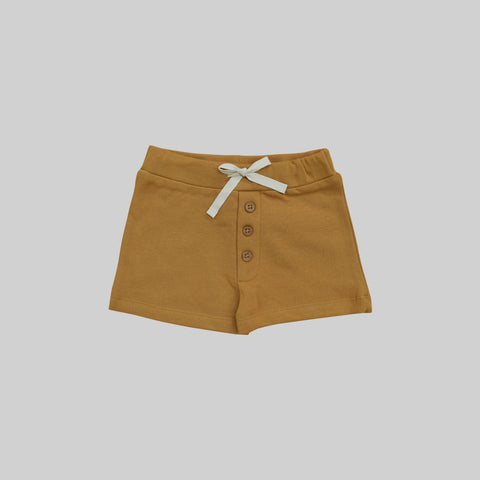 Golden Button Shorts by Buck and Baa- Little Cherished Co.