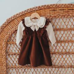 Hazelnut Corduroy Pinafore by KCoulst Designs