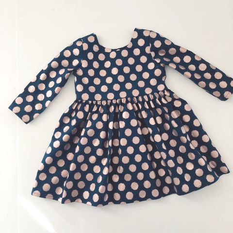 Rose Gold Collection- Navy Polkadots - Little Cherished Co.