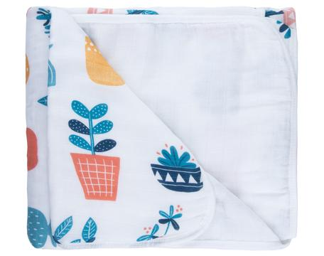 Potted Plant Triple Layer Bamboo Blanket - Little Cherished Co.