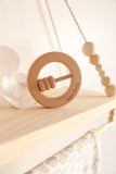 Natural Beech Rattle - Little Cherished Co.