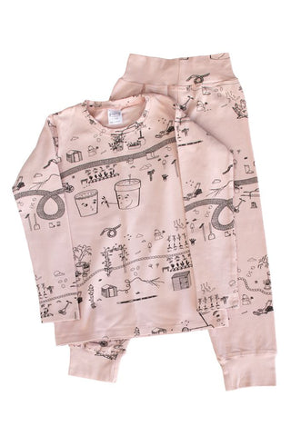 g dot nancy organic pyjamas rose garden long set
