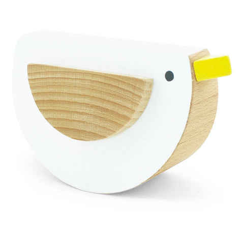 Wooden Rocking Bird in White