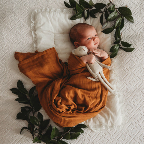Baby Swaddle in Bronze - Little Cherished Co.