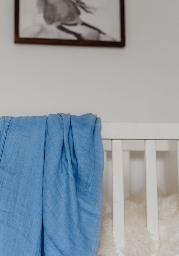Bamboo Swaddle in Denim by Lunas Treasures