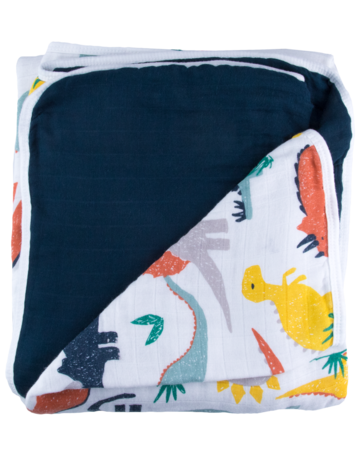 Dinosaur Triple Layer Bamboo Blanket - Little Cherished Co.