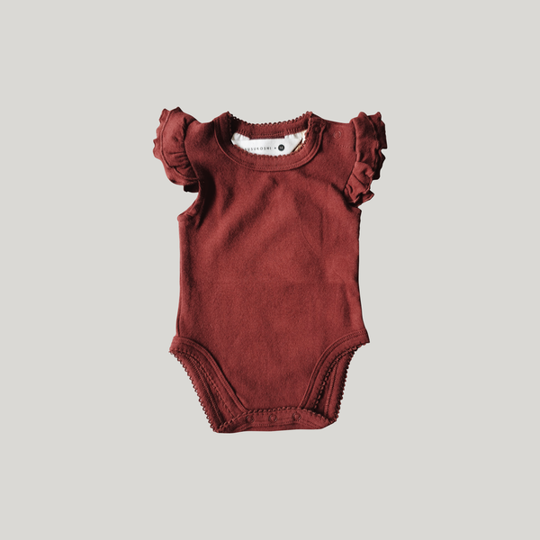 berry jam organic cotton fluttersuit by susukoshi