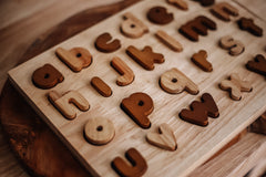 Natural Lowercase Alphabet Puzzle