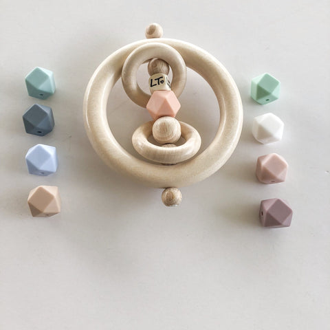 Raw Hex Toy Rattle - Little Cherished Co.