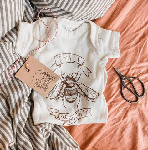 Small But Mighty Onesie by Milos Corner - Little Cherished Co.