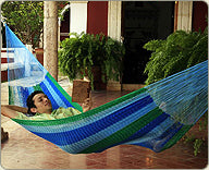 Mexican Hammocks are ideal as presents for blokes