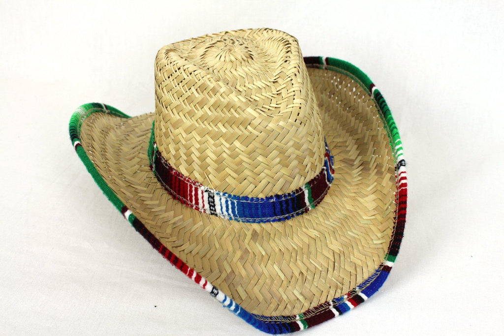Mexican palm Cowboy hat with trim-Mexican Sombreros-Hammock Heaven