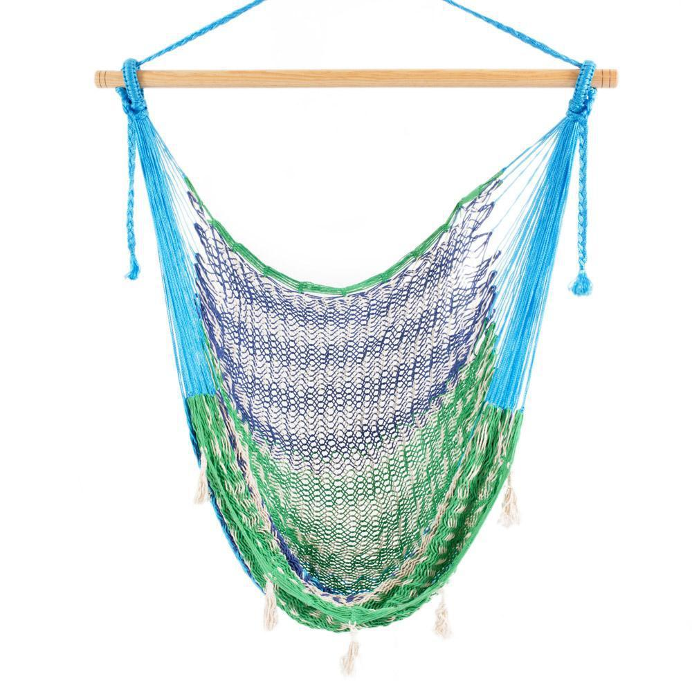Combo: Hammock Chair & A Frame Stand-Hammock Stands-Large-Blue-green-white-Hammock Heaven