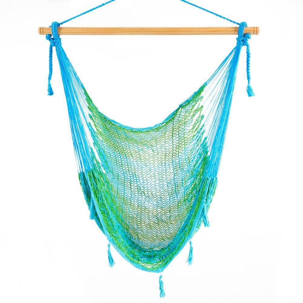 Combo: Hammock Chair & A Frame Stand-Hammock Stands-Large-Light Green-Baby Blue-Hammock Heaven