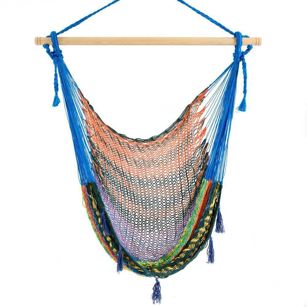 Combo: Hammock Chair & A Frame Stand-Hammock Stands-Large-Multicoloured-Hammock Heaven