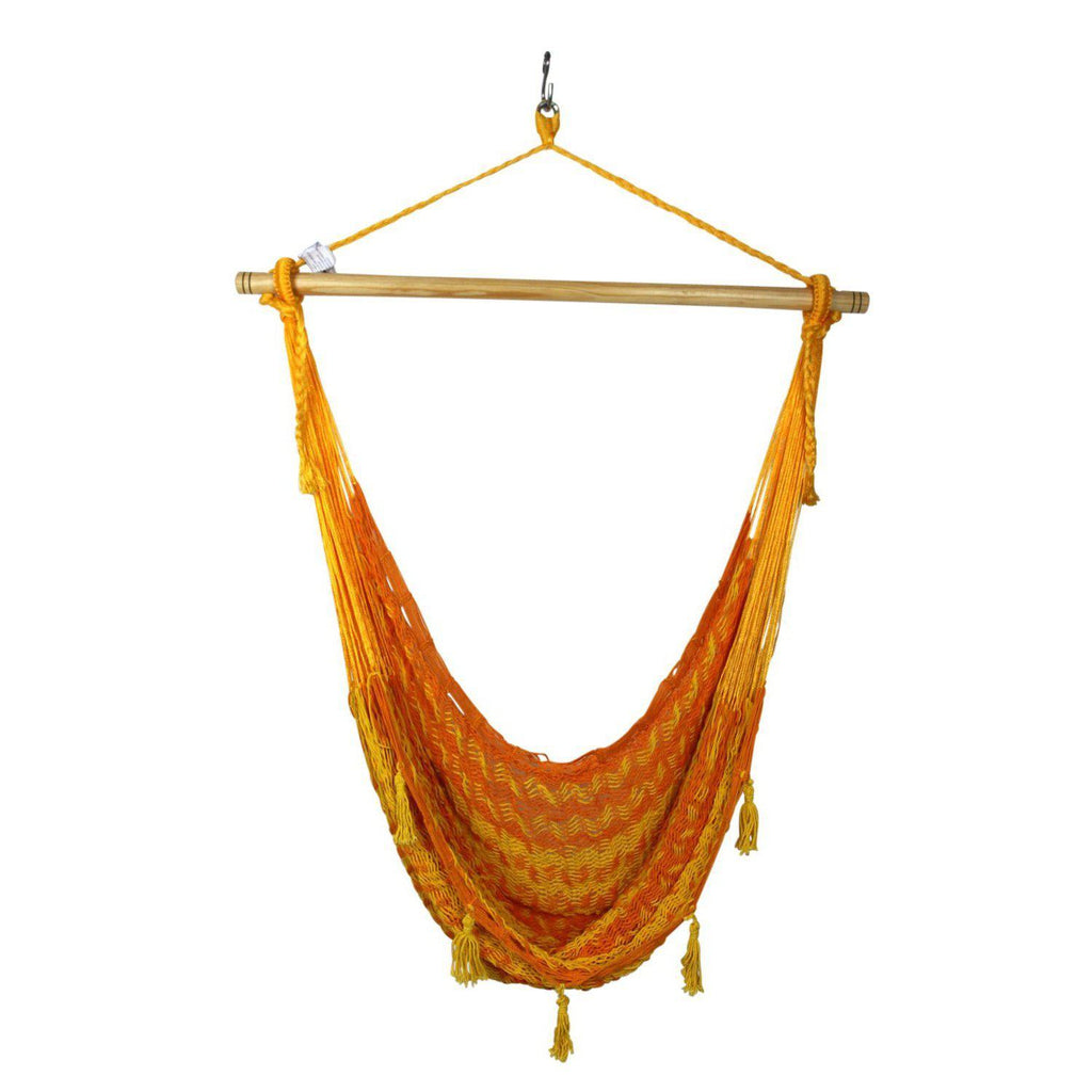 Combo: Hammock Chair & A Frame Stand-Hammock Stands-Large-Orange-Yellow-Hammock Heaven