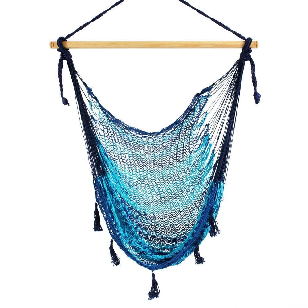 Combo: Hammock Chair & A Frame Stand-Hammock Stands-Large-Two Tone Blue-Hammock Heaven