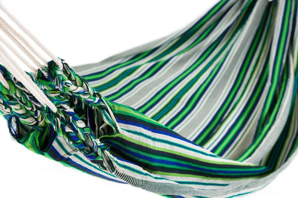 Ecuador Hammock Cotton Green Multicoloured-Ecuador Hammocks-Hammock Heaven