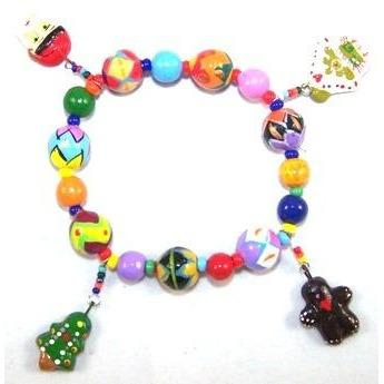 Merry Christmas Ceramic Bracelet With Charms-bracelets-Hammock Heaven