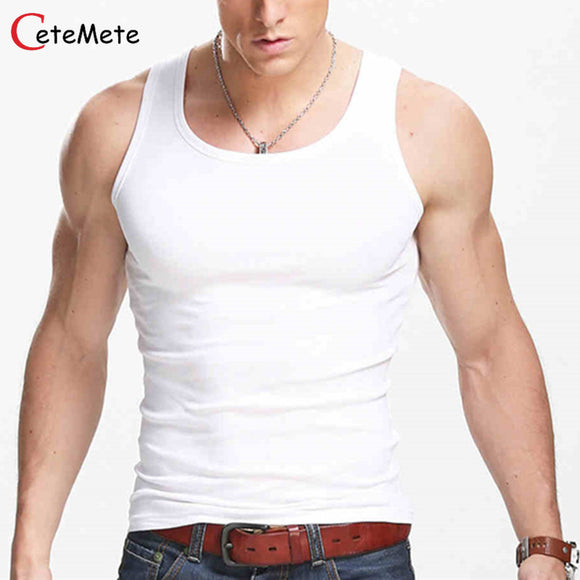 2017 Clothing Casual Gilet Men O-Neck Tank Tops Summer Male Bodybuilding Sleeveless Vest Gymclothing fitness Men T shirt
