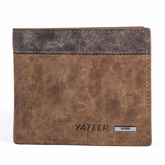2016 Fashion Men Wallets Short Men's Leather Wallet ID Business Men Credit Card Holder Clutch Purse carteras mujer