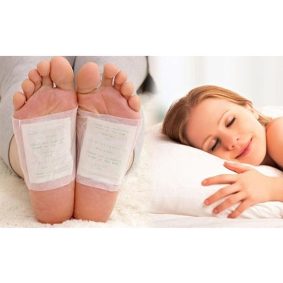 10 pieces/bag Adhesive Sheet Bamboo Vinegar Foot Patch Removing Toxins Foot Plaster Foot Cleansing Pads
