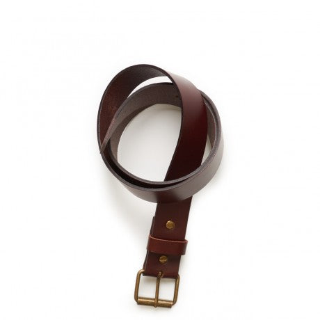 Leather belt in black or tan $45