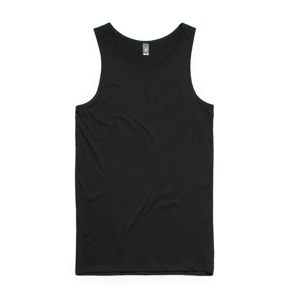 Men's lowdown staple singlet, screenprinted, in quantities of 10, 20, 50 or 100, from $18 each