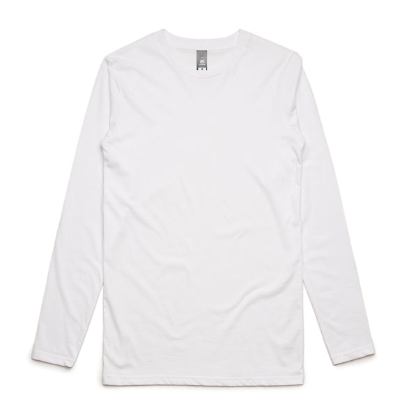 Men's longsleeve t-shirt, screenprinted , quantities of 10, 20, 50 or 100, from $23 each