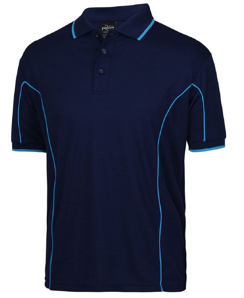 Men's piping polo, screenprinted or embroidered,  various colours, in quantities of 3, 5, 10, from $25 each