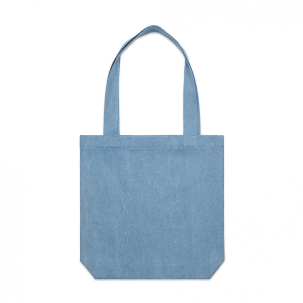 Denim tote, printed or plain , from $21 each