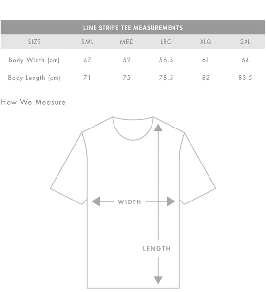 Men's line stripe t-shirt, short and longs sleeve, blank, white logo or wording screenprinted, in quantities of 5, 10 and 20, from $36 each