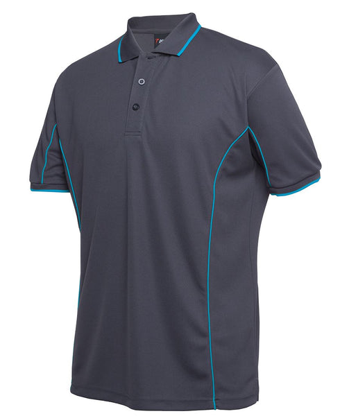 Men's piping polo, screenprinted or embroidered, various colours, in quantities of 20, 50 or 100, from $25 each
