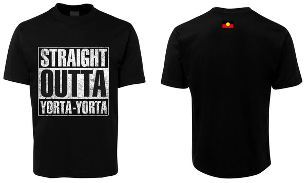 Straight outta Yorta Yorta t-shirts, $30 each
