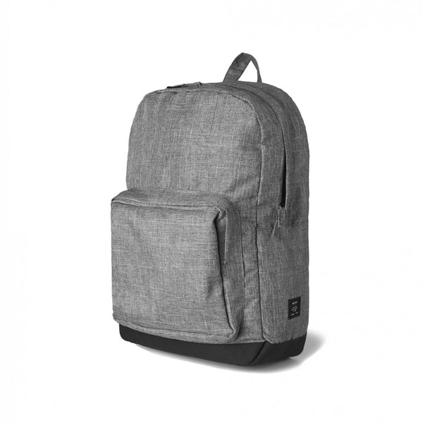 Backpack in stone grey or army green, plain or printed, from $39 each