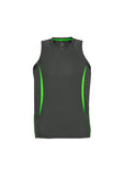 Men's razor sports singlet, screenprinted, in quantities of 7, 10 and 20 , from $34 each