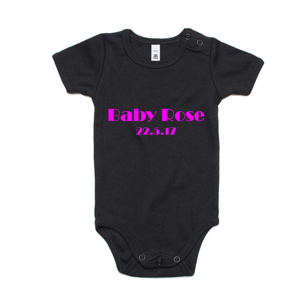 Customised baby jumpsuit for newborn - 2 years, printed logo or customised wording $59.99