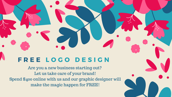 FREE logo design if you spend over $400 online.