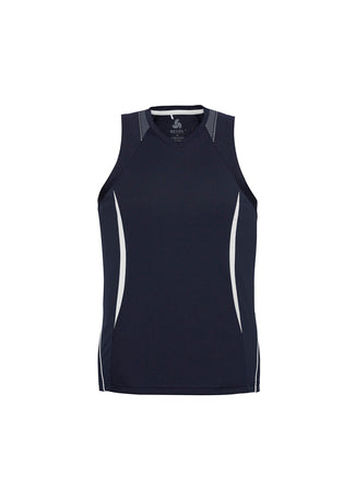 Ladies razor sports singlet, screenprinted, in quantities of 7, 10, 20, from $35 each