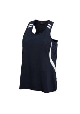 Ladies flash singlet, screenprinted, quantities of 7,10, 20 available, from $35 each