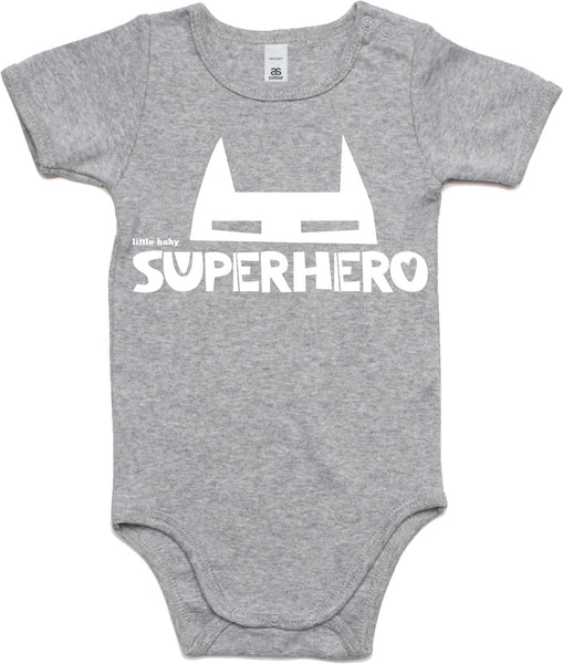 Little baby superhero jumpsuit, $55 each