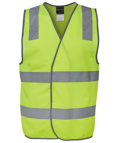 Men's hi vis safety vest taped, various colours, screeprinted, in quantities of 5,10,20, 50, from $15 each