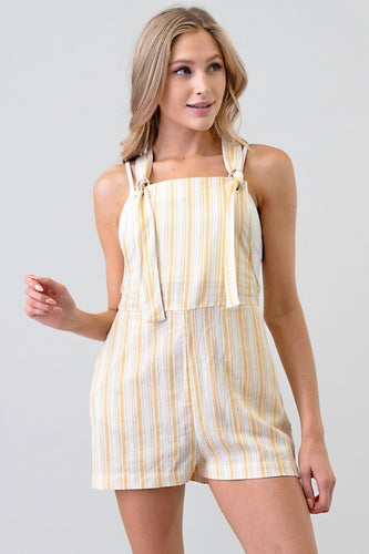 Striped Pinafore Romper