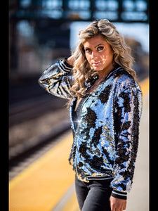 Sequin Track Jacket